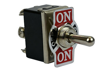 TEMCo Heavy Duty 20A 125V (ON)-OFF-(ON) DPDT 6 Terminal Toggle Switch Momentary
