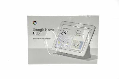 Google Home Hub with Built-In Google Assistant, Chalk - GA00516-US
