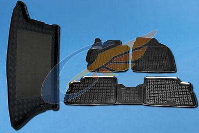 Gummi-Fußmatten+Kofferraumwanne TOYOTA AURIS II AURIS II HYBRID 2012-heute