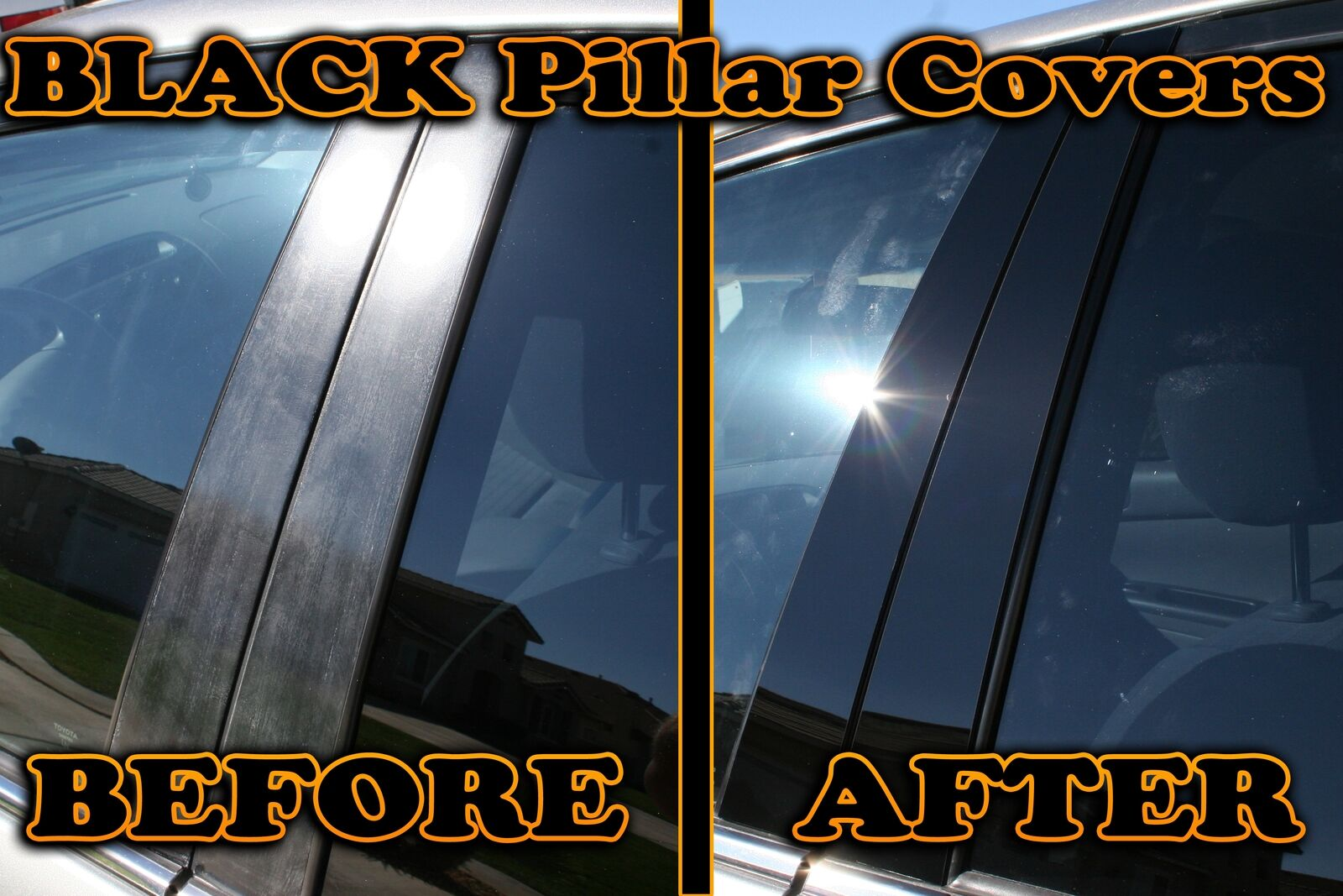 Fits Mazda 5 06-10 Royal Black Glossy Door Pillar Post Accessories B-Pillar