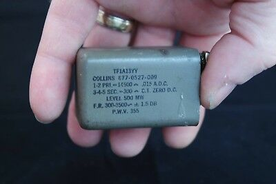 Collins Radio 14500 ohm to 300 ohm CT Audio Transformer 677-0527-089 Tested Good