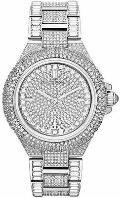 MICHAEL KORS MK5869 Camille Crysta Pave Quartz Stainless Steel Watch Free Shipp