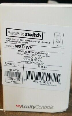 Wsd-wh Sensorswitch Motion Detector Switch White.