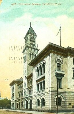Savannah,GA. A 1911 View of the Government Building ()