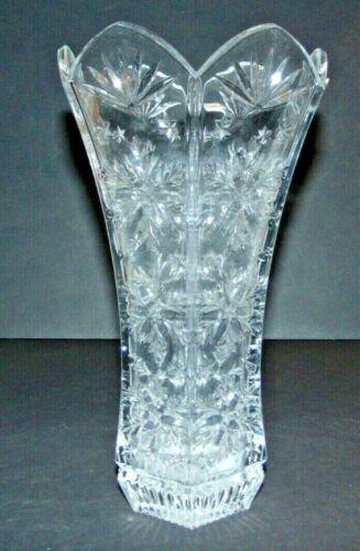 "VTG Heavy Lead-Crystal Decorative Vase (11"" Tall) Gorgeous Base GC"