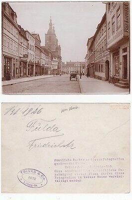 Fulda, Geschäfte Friedrichstraße großes Original Foto (ca.13,0 x 18,0 cm)  1912