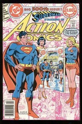 ACTION COMICS (1938) #500 9.2 NM- / SUPERGIRL ORIGIN / INFINITY COVER
