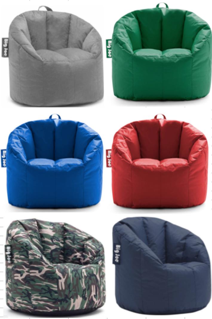Big Joe Milano Bean Bag Chair Multiple Color - 32 X 28 X 25