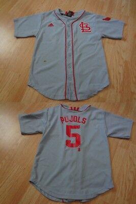 Louis Cardinals Youth Light (Youth St Louis Cardinals Albert Pujols M (10/12) Throwback Style Jersey (Light)