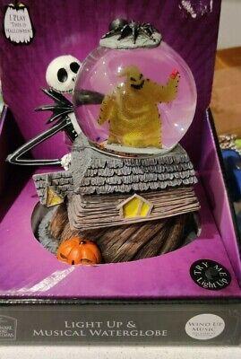 Nightmare Before Christmas Light Up Musical Water Globe Disney Jack Oogie Boogie