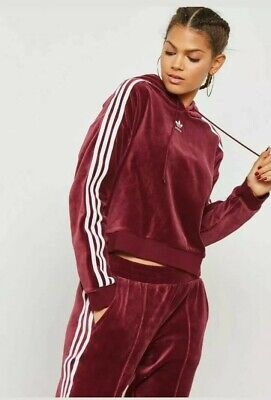 ADIDAS ORIGINALS WOMENS VELOUR TRACKSUIT. SIZE 6. USED ONCE.....RARE