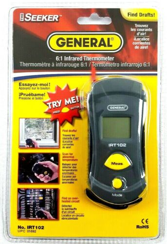 General Tools -  6:1 Infrared Thermometer - No. IRT102 - BRAND NEW - SEALED