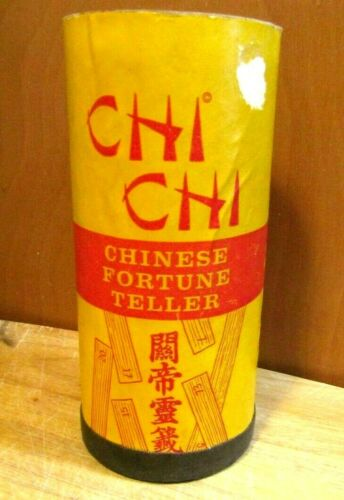 ANTIQUE 1915 CHI CHI CHINESE FORTUNE TELLER SET 70 PLUS BAMBOO STICKS BOOKLET