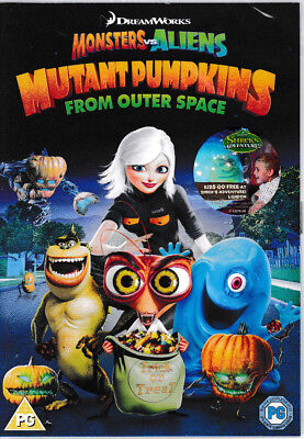 Monsters Vs Aliens: Mutant Pumpkins From Outer Space DVD - Brand New & Sealed (Monsters Vs Aliens Halloween Movie)