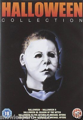 Halloween 4 Film Complet (HALLOWEEN Movies Films Complete DVD Collection Boxset: Part 1+2+3+4+5 Sealed)