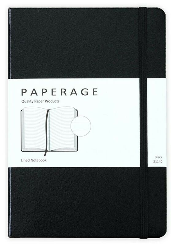 Paperage Lined Journal Hardcover, 5.7 x 8 inch, 100 gsm Thick Paper 160 pages
