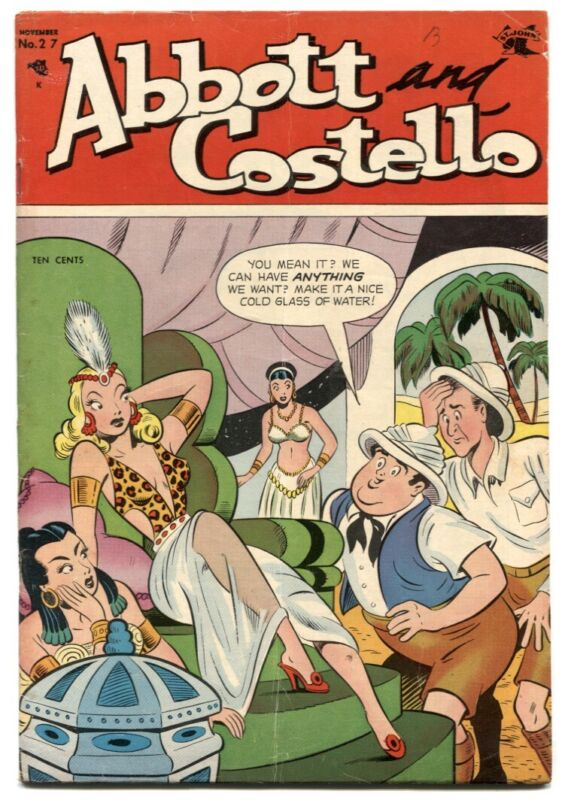 Abbott and Costello #27 1954- great spicy good girl art cover
