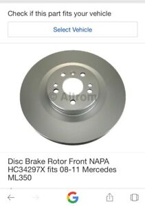 2008-11 MERCEDES ML350 BRAKE ROTORS