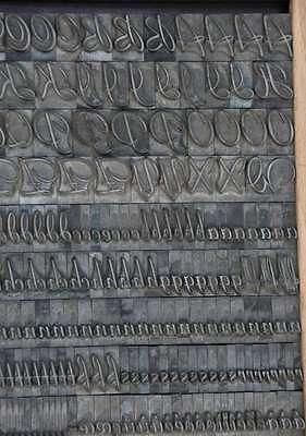 FORELLE 36° Bleischrift Bleisatz Buchdruck Alphabet Handsatz Bleilettern ABC