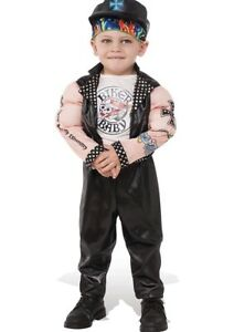 Boys Muscle man biker costume Halloween 2T - 3T