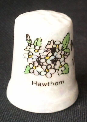 Thimble Missouri Flower The Show-Me State Porcelain Pearl White  for sale  Bell