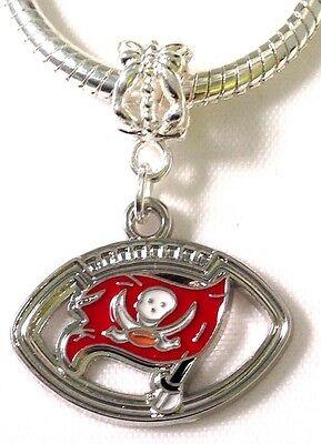 BUCCANEERS Tampa Bay Buccaneers Charm For Euro Charm Bracelet FAST SHIP USA (Tampa Bay Buccaneers Bracelets)