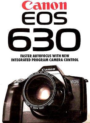 CANON EOS 630 SLR 35mm CAMERA BROCHURE -CANON EOS 630--from 1989--CANON EOS 630