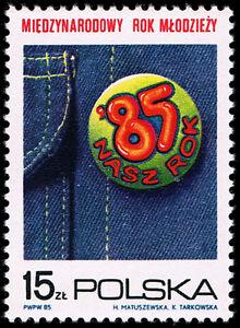 Polska Poland 1985 Fi 2821 Mi 2969 MNH Międzynarodowy Rok Młodzieży - <span itemprop=availableAtOrFrom>Pustków, Polska</span> - Polska Poland 1985 Fi 2821 Mi 2969 MNH Międzynarodowy Rok Młodzieży - Pustków, Polska