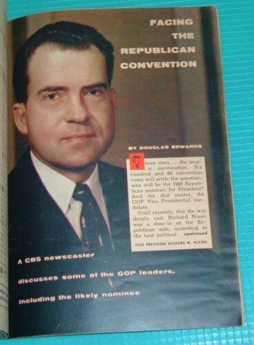 1960 GEORGIA TV GUIDE~JOHN DALY REPUBLICAN NATIONAL CONVENTION CHICAGO R.NIXON