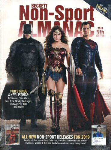 Beckett 2019 Non Sport Almanac Card Price Guide Magazine 5th Edition DC Marvel