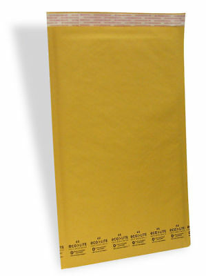 6 12.5x19 Kraft Ecolite Bubble Mailers Padded Envelopes Bags 12.5 X 19 50 100