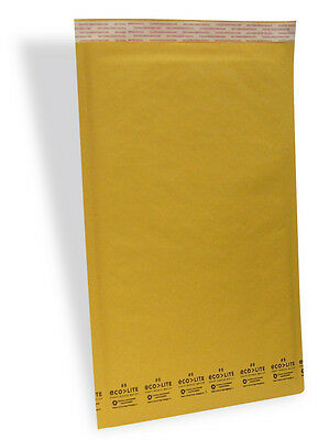 100 6 12.5x19 Kraft Ecolite Bubble Mailers Padded Envelopesl 12.5 X 19 50.2