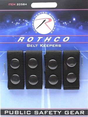 Belt Keepers Black Denier Polyester Police Duty Belt Belt Keepers 4 Pack 20584