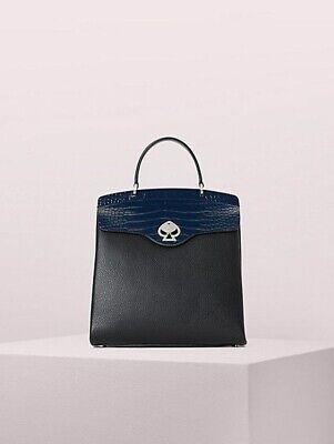 ❤️Kate Spade Romy Backpack croc-embossed colorblock medium back laptop bag