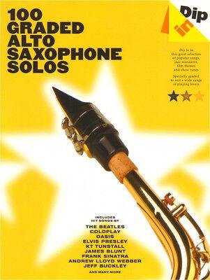 Dip In 100 Graded Alto Saxophone Solos Pop Popsongs Noten für Alt-Saxofon
