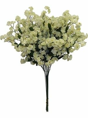 12 Baby's Breath LIGHT SAGE GREEN Gypsophila Silk Wedding Centerpieces Flowers