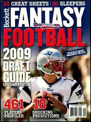 Beckett Fantasy Football September 2009 Draft Guide Fall 2009 Tom Brady
