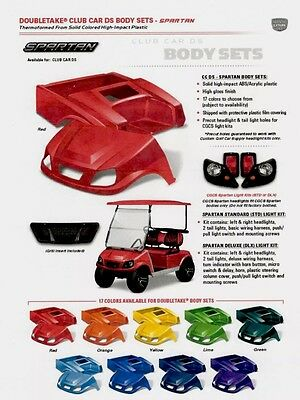 "Club Car DS Color Through Body Set w/ Matching 80"" Top & Deluxe Headlight kit"