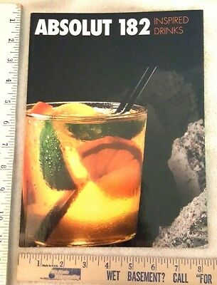 Absolut Vodka 182 Inspired Drinks Book with  - Absolut Vodka Drinks
