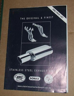 SONAX EXHAUSTS 2002 Sales Brochure UK