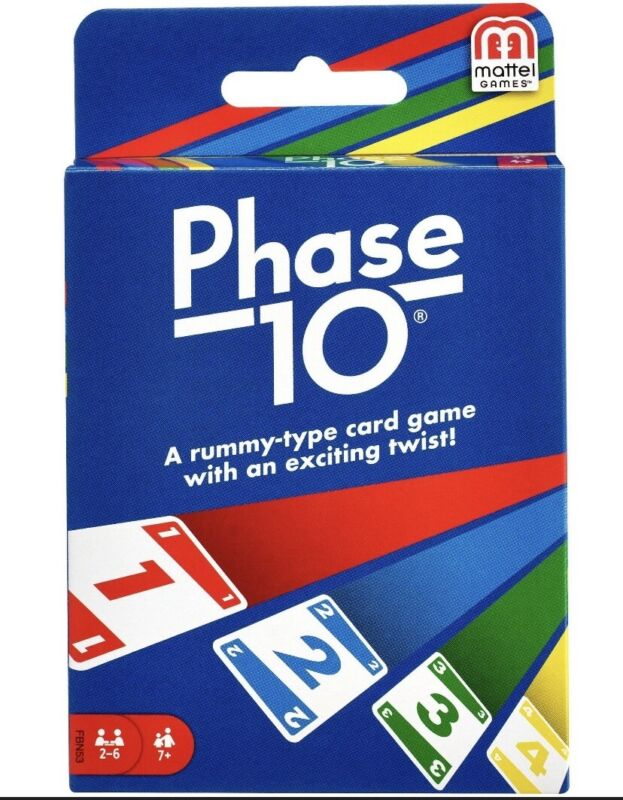 Mattel Phase 10 Card Game family game 2-6 players NEW