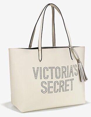 Victoria's Secret Tote Bag White With Dotted VS Logo New 2017.