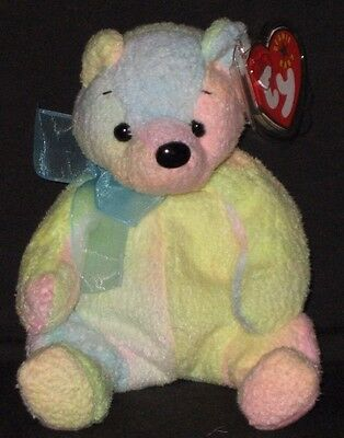 Mellow Bear - TY MELLOW the BEAR BEANIE BABY - MINT with MINT TAGS