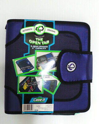 Case-it Open Tab 2-inch Binder - Velcro Closure 2 Tab File Purple S-816 3 Ring