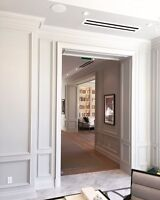 Crown moulding, Baseboards, Wainscoting