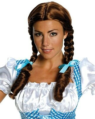 Deluxe Dorothy Wig Adult Wizard of Oz Brown Braided Pigtails - Salon Quality - (Dorothy Wig)