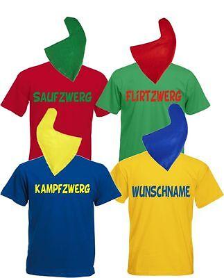Zwergenkostüm Gruppenkostüm Karneval Paarkostüm Zwerg Herren T Shirt - Herren Paar Kostüm