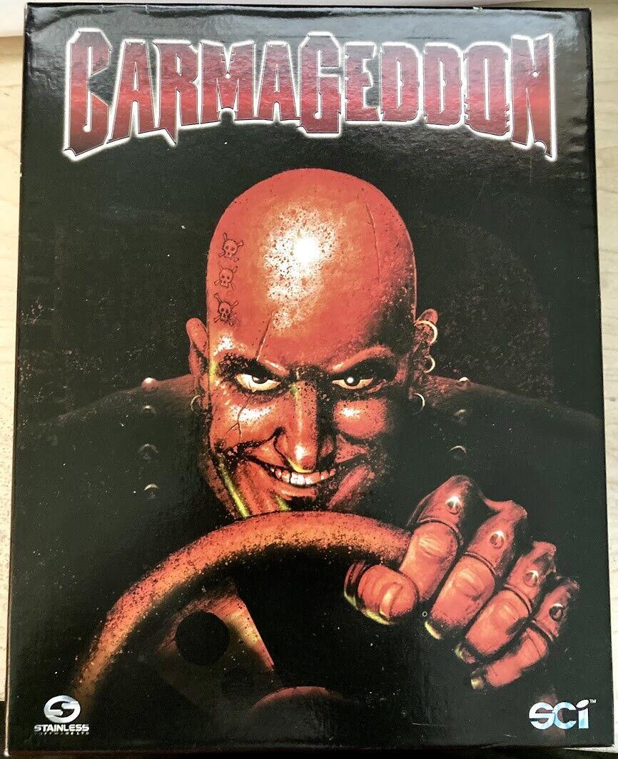 Computer Games - Carmageddon (Mac, 1997) Big Box Computer Game CD-ROM Macintosh