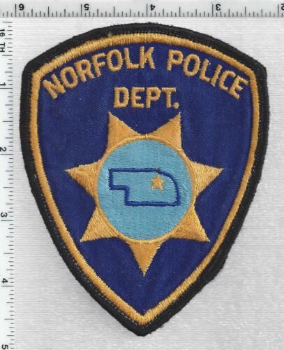 Norfolk Police (Nebraska) 1st Issue Uniform Take-Off Shoulder Patch