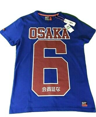 SUPERDRY OSAKA 6 Blue Red Mens 2XL T-Shirt